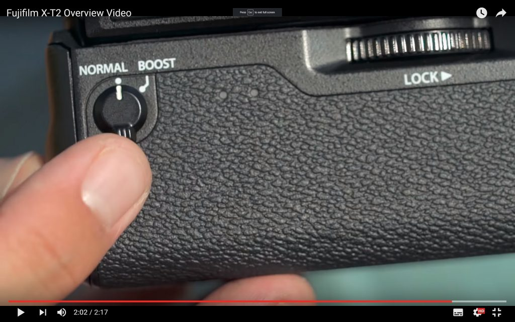 Fuji X-T2 - DP Review - Battery Grip